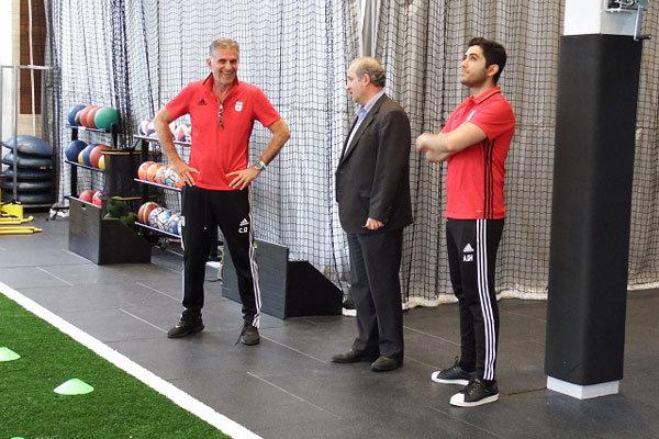 حضور چهار بازیکن و رئیس فدراسیون در تمرین/ تمرین اختصاصی دژاگه
