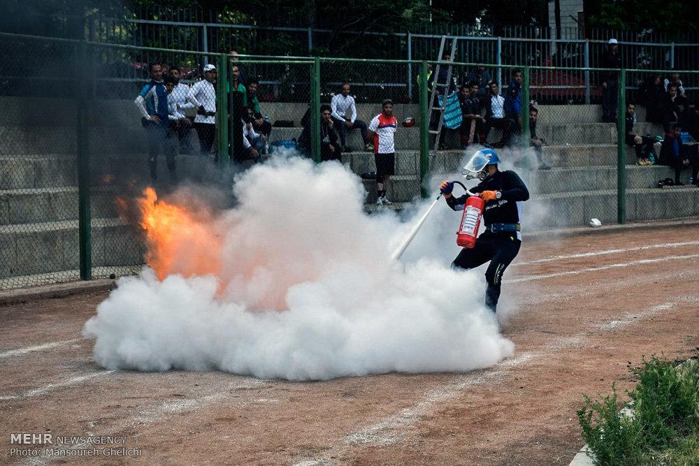 مسابقات چند جانبه آتش نشانان در شاهرود