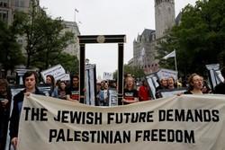 American Jews protest US embassy move, Israel's massacre of Palestinians