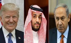 Mohammad bin Salman, Benjamin Netanyahu and Donald Trump