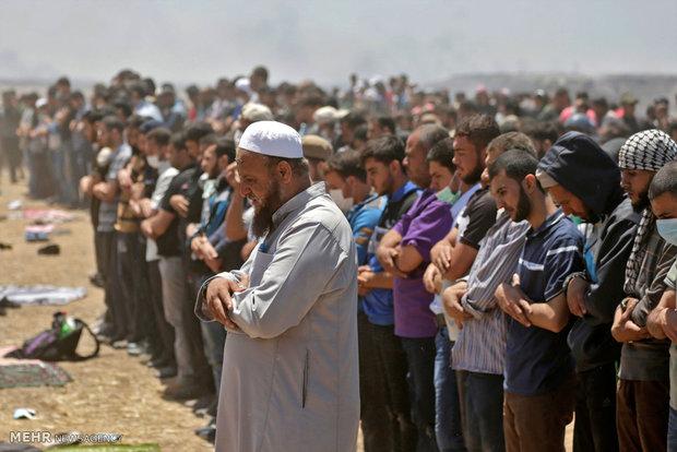 جنایت صهیونیست ها در مرز غزه