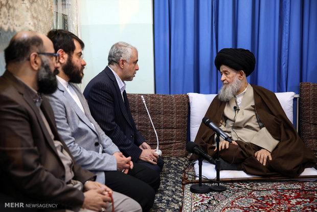 دیدار سعید اوحدی رئیس سازمان فرهنگی هنری شهرداری تهران با مراجع قم