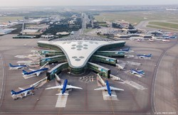PHOTO: A general view of the Heydar Aliyev International Airport in Baku.