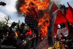 وقفات احتجاجية في طهران تنديداً بجرائم الكيان الصهيوني ونقل السفارة الأميركية
