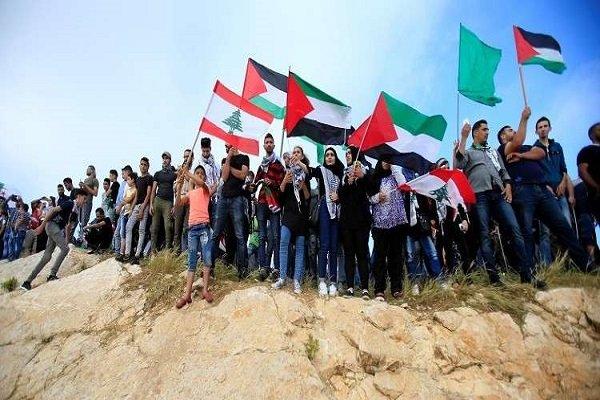 تظاهرات هزاران آواره فلسطینی در لبنان علیه رژیم صهیونیستی
