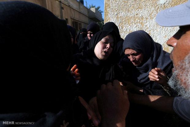 تشییع شهدای روز خونین غزه
