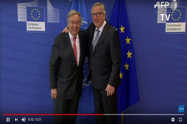 در دیدار گوترش و یونکر اعلام شد؛ حمایت سازمان ملل از تلاشهای اتحادیه اروپا برای حفظ برجام