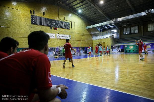 تمرین تیم ملی هندبال