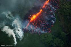 ہوائی کے آتش فشاں سے لاوا بہنے کا سلسلہ جاری