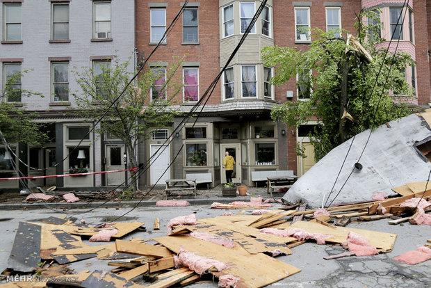 وقوع طوفا در آمریکا