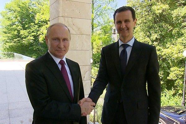 بوتين وبشار الاسد في سوتشي