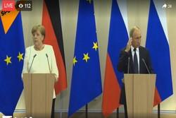 پوتین و مرکل / کنفرانس خبری