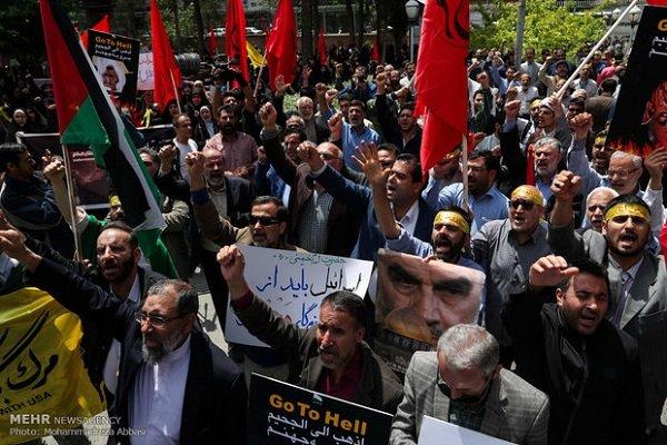 Iranians hold massive rally to condemn Zionist regime's crimes in Palestine