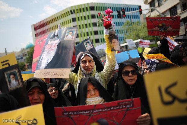 Tahran'da yeniden İsrail karşıtı gösteri yapıldı