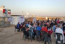 لجنة الامام الخميني للاغاثة تقيم افطارا لآلاف الفلسطينيين داخل مخيمات العودة شرق غزة