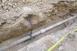 اصلاح و توسعه۱۵۰۰ متر شبکه توزیع آب شرب در ورامین