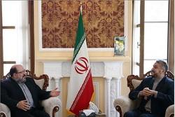 عبداللهيان يستقبل ممثل حركة حماس في طهران