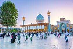 People visit the Shah Cheragh shrine in Shiraz, southern Iran.