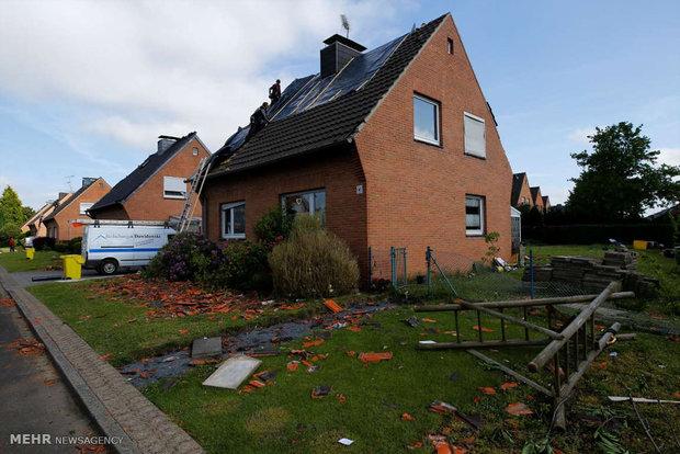 Almanya'da şiddetli fırtına