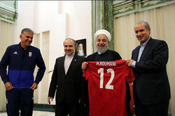 President Rouhani welcomes Iran national football team