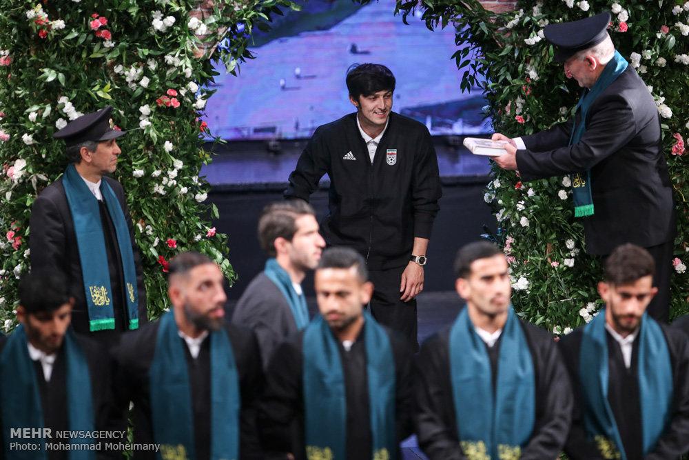 آیین بدرقه تیم ملی فوتبال ایران و رونمایی از سرود تیم ملی
