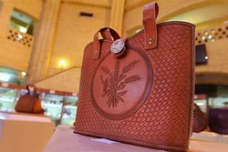Handcrafted leatherwear on display at CHHTO