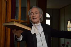 "Iranian actor Nasser Aqai portrays German poet Johann Wolfgang von Goethe in the docufiction ""Hafez and Goethe"" by Farshad Fereshteh-Hekmat. (DEFC )"
