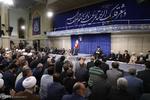 استقبال قائد الثورة الاسلامية جمع من المسؤولين في البلاد /صور