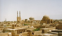 A view of Yazd, a UNESCO-registered city in central Iran