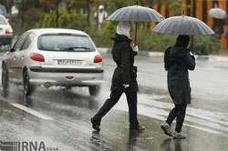A rainy day in Tehran