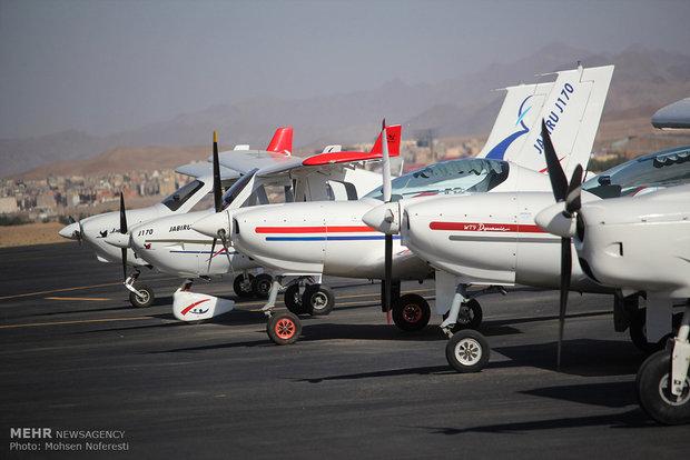 مهرجان الطيران في مدينة بيرجند شرقي ايران