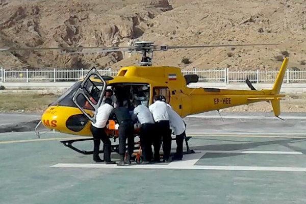 استقرار ۵ فروند بالگرد اورژانس برای ایام اربعین در مرز مهران