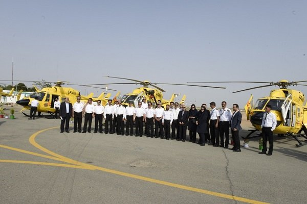 Six relief choppers unveiled in Alborz prov.