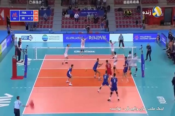 VIDEO: Iran vs France at FIVB Volleyball Nations League