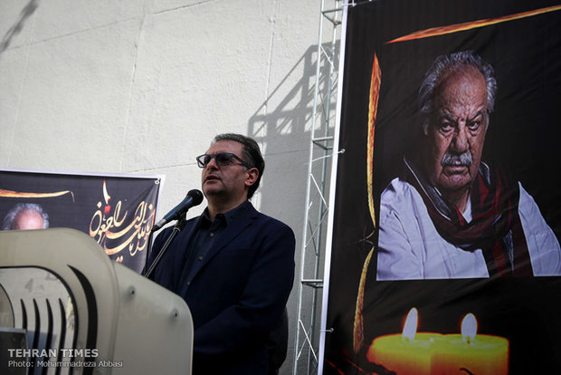 Nasser Malakmotiei's funeral held at Iranian House of Cinema