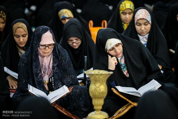 ترتيل القرآن الكريم في مرقد السيدة معصومة (س)