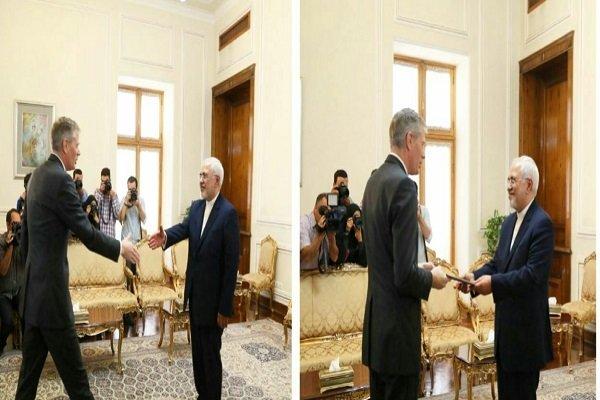 Zarif receives new UK, S Korean ambs, UN envoy for Lebanon