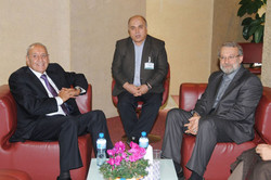 لاريجاني يهنئ باعادة إنتخاب بري رئيساً للبرلمان اللبناني