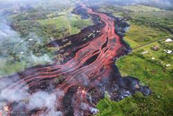 گدازه های مذاب آتشفشان کیلاویا