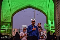 أمسية ترتيل القران الكريم تحت أمطار الرحمة والبركة في مقام ثامن الائمة / صور