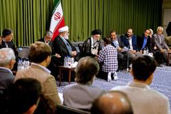 منظومهای از شعر و ادبیات ایرانی در شب بارانی بیت رهبری