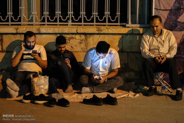 مراسم مناجات شب های ماه مبارک رمضان در مسجد ارک