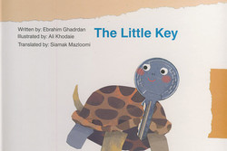 "Front cover of ""The Little Key"" by Iranian writer Ebrahim Qadrdan"