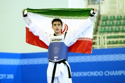 Bakhshi snatches gold at World Military Taekwondo C'ships
