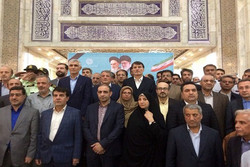 تجدید میثاق شهردار تهران و اعضای شورای این شهر با امام خمینی(ره)