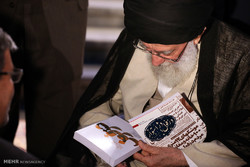 Leader receives poets on Imam Hassan's birth anniv.