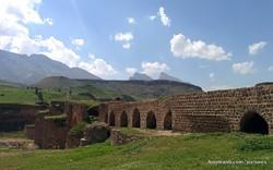 A view of the ruined Gavmishan Bridge in westernIran