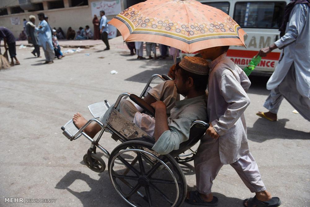 گرمای شدید در کراچی