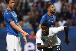 پیروزی تیم ملی فوتبال فرانسه برابر ایتالیا در آستانه جام جهانی
