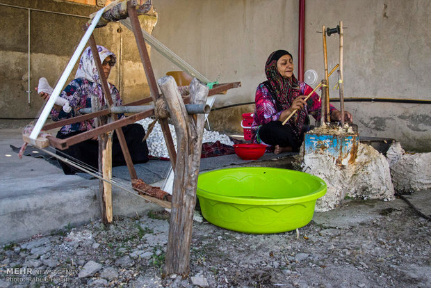 Silk farming and weaving in Iran's Golestan province